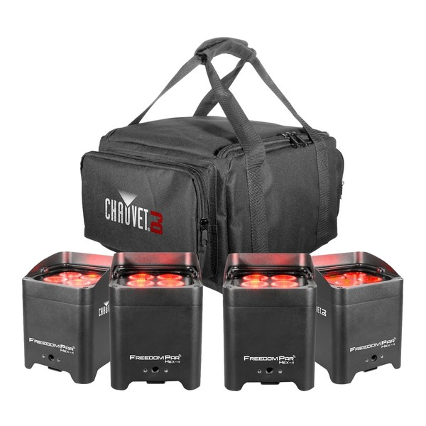 Chauvet Freedom Par Hex-4 Pack with Free VIP Gear Bag