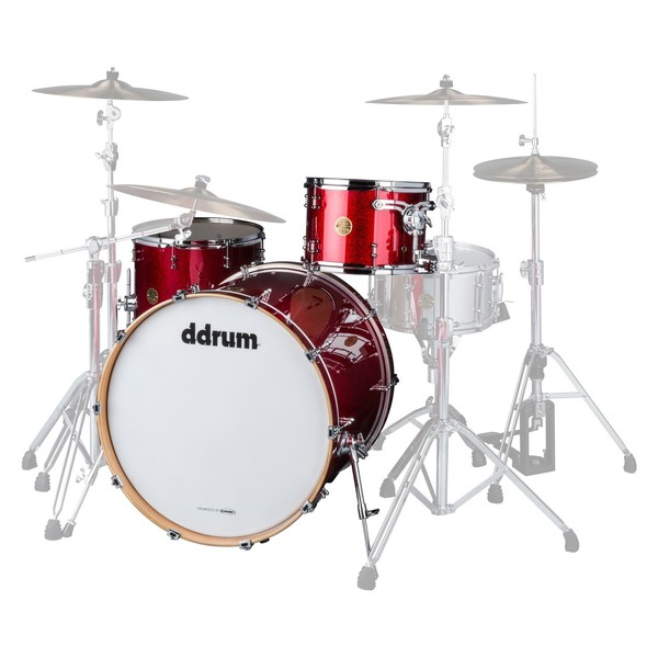 "DDrum Dios Maple 24"" 3pc Shell Pack, Red Cherry Sparkle - Main Image"