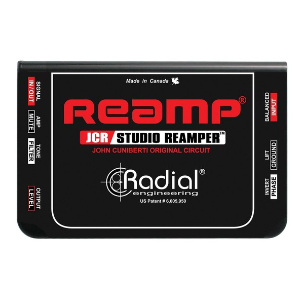 Radial Reamp JCR Studio Reamper, Top View