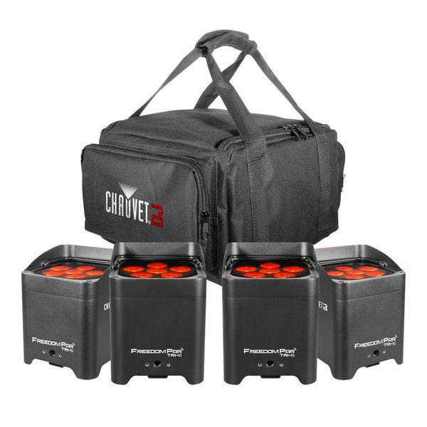 Chauvet Freedom Par Tri-6 Pack with Free VIP Gear Bag