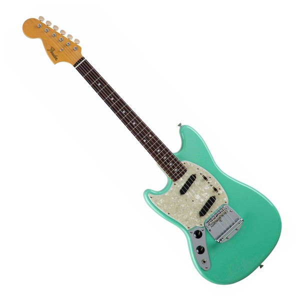 fender traditional 39 60s mustang left handed seafoam green at gear4music. Black Bedroom Furniture Sets. Home Design Ideas