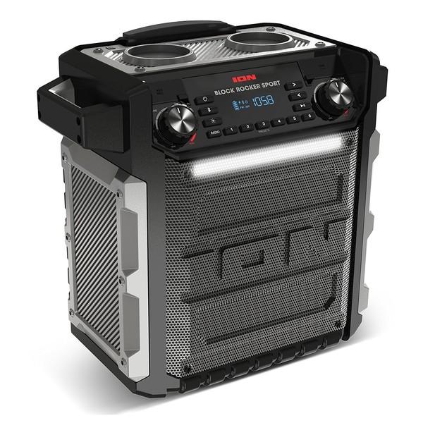 ION Block Rocker Sport Wireless Speaker with Bluetooth - Angled