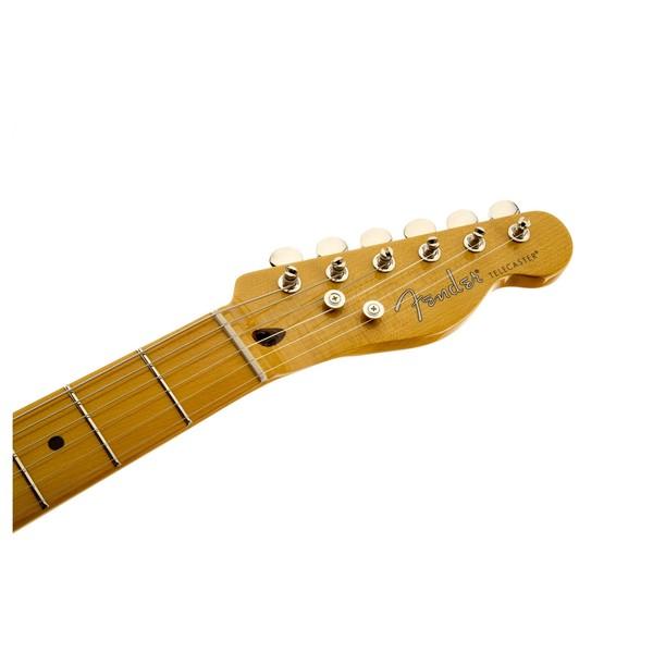 Fender Modern Player Telecaster Thinline Deluxe, Black Transparent Headstock