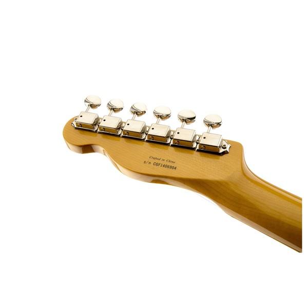Fender Modern Player Telecaster Thinline Deluxe, Black Transparent Headstock Back