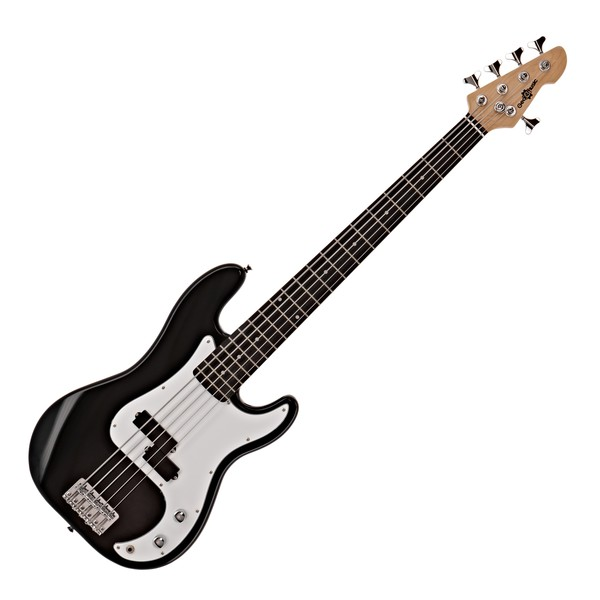 LA 5 String Bass Guitar by Gear4music, Black