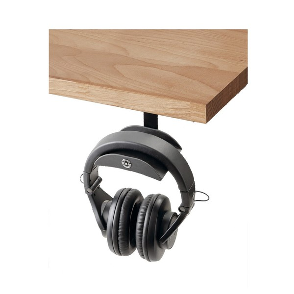 K&M 16330 Headphone Holder, Black