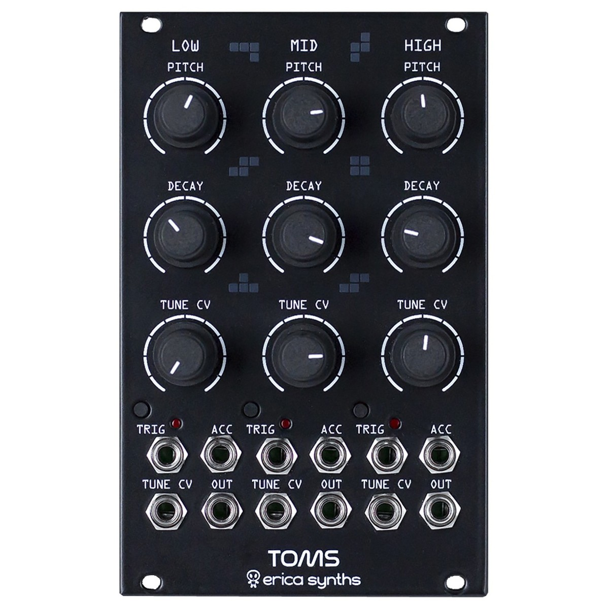 Erica Synths Toms, Black (16HP)