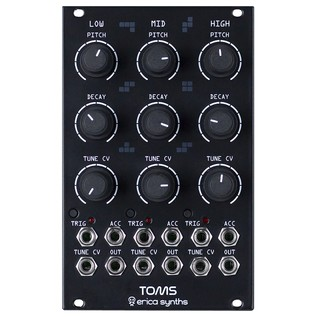 Erica Synths Toms, Black - Main