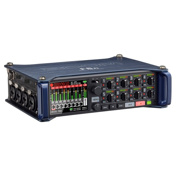 Zoom F8N MultiTrack Field Recorder - Angled