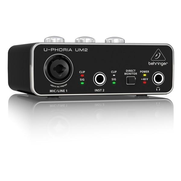 Behringer U-Phoria UM2 USB Audio Interface - Angle