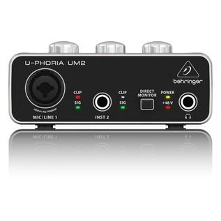 Behringer U-Phoria UM2 USB Audio Interface - Front