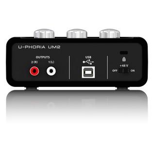 Behringer U-Phoria UM2 USB Audio Interface - Back
