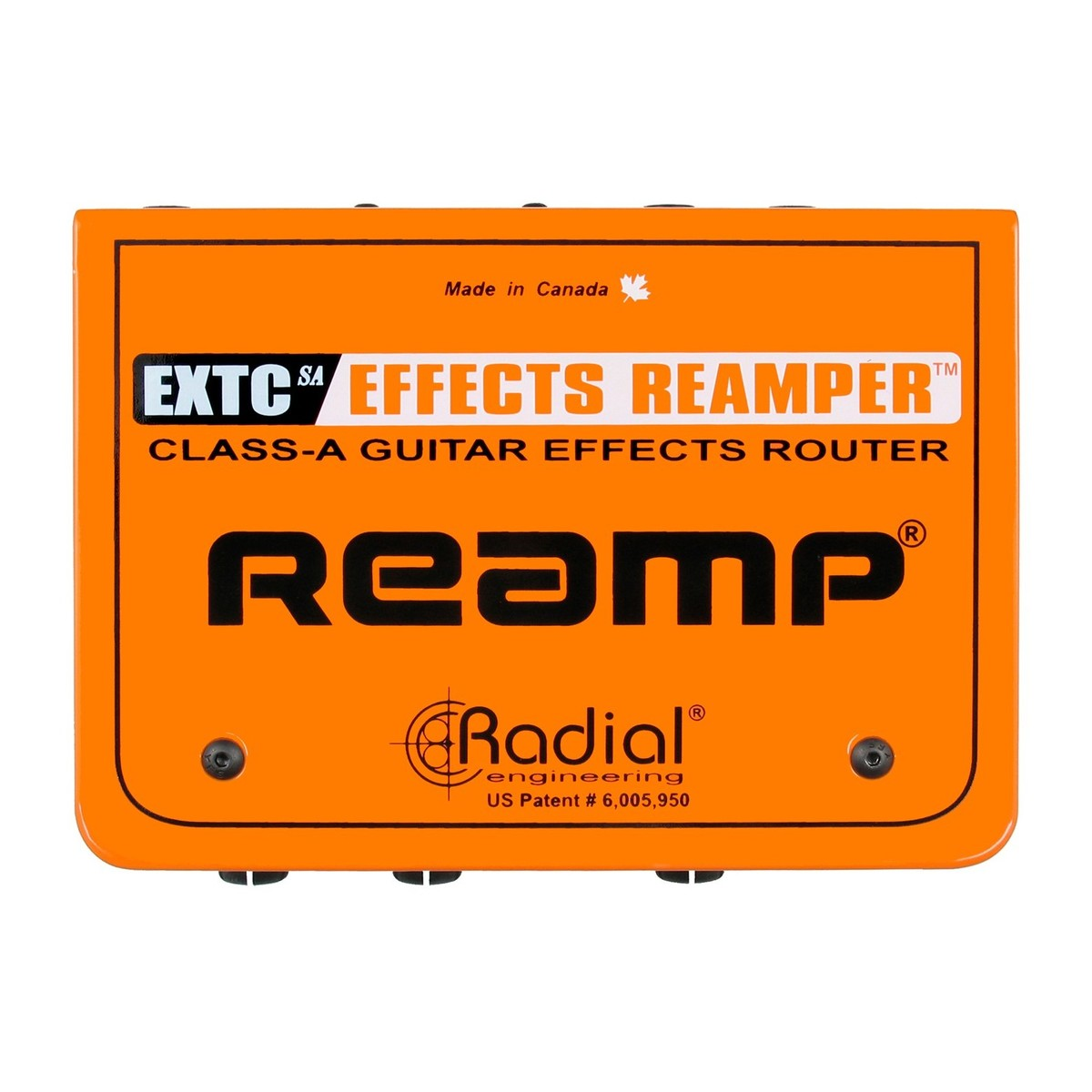 Radial Extc Sa Guitar Effects Interface And Reamp Box At Gear4music Electrical Schemes For Electric Guitars Top View Loading Zoom