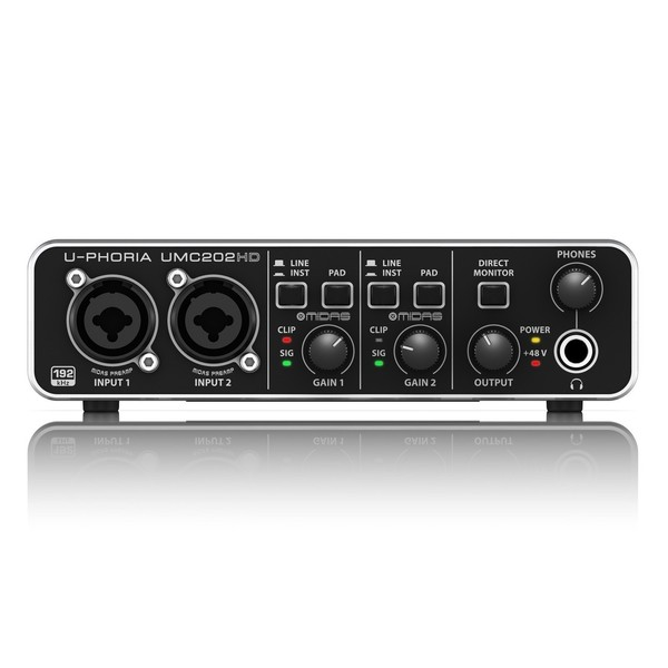 Behringer U-PHORIA UMC202HD USB Audio Interface - Front