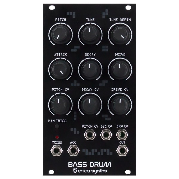 Erica Synths Bass Drum, Black - Main