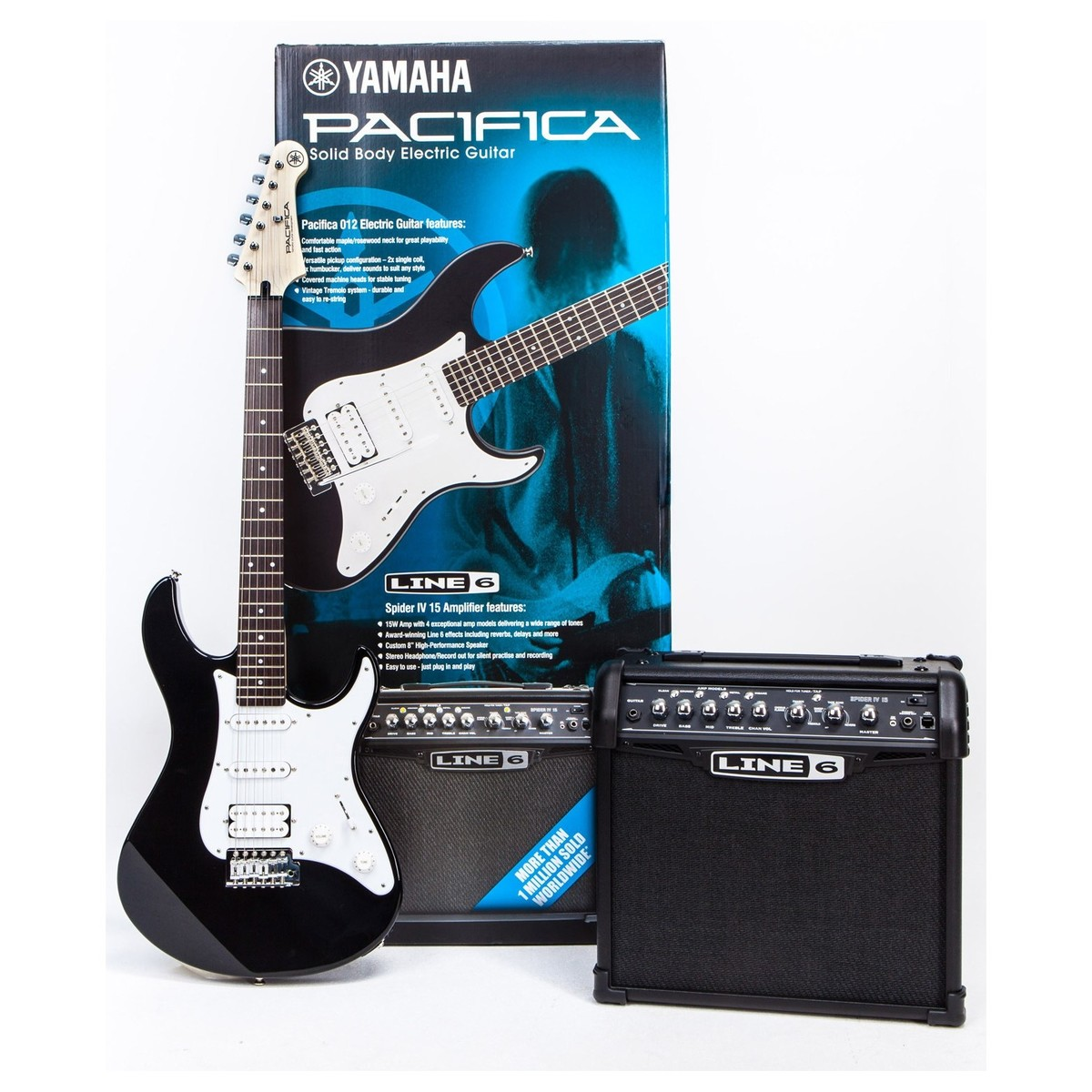 yamaha pacifica 012 spider electric guitar pack b stock at gear4music. Black Bedroom Furniture Sets. Home Design Ideas