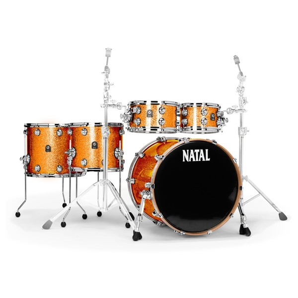 Natal Originals Maple 22'' 5pc Shell Pack, Orange Sparkle