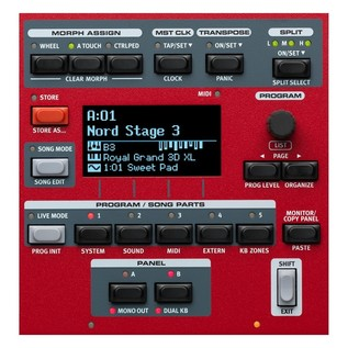 Nord Stage 3 88 Digital Piano - Program Section