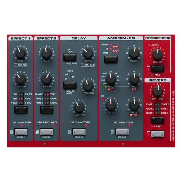 Nord Stage 3 88 Digital Piano - Effect Section