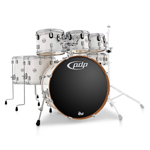 PDP Concept Maple 22'' 7pc Shell Pack, Pearlescent White