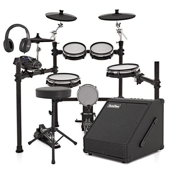 WHD 517-DX Pro Mesh Electronic Drum Kit & 60W Amp Pack