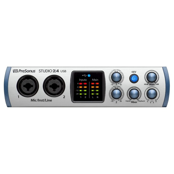 PreSonus Studio 2|4 USB-C Audio Interface - Front