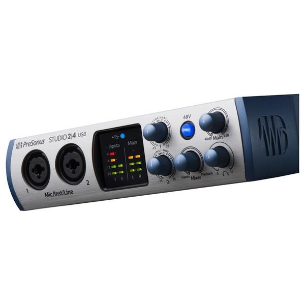 2 4 USB-C Audio Interface - Angled