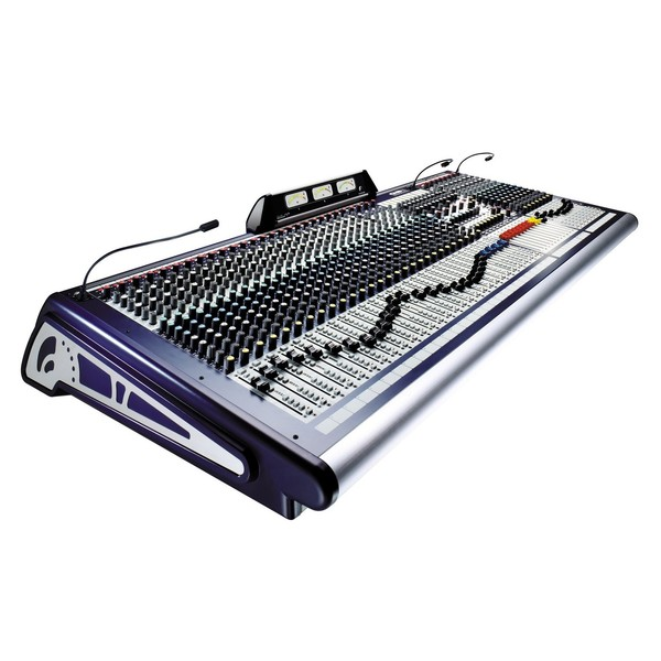 Soundcraft GB8-32 32-Channel Analog Mixer, Angled View