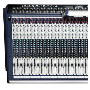 Soundcraft GB8-32 32-Channel Analog Mixer, Top View Left