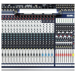 Soundcraft GB8-32 32-Channel Analog Mixer, Top View Middle