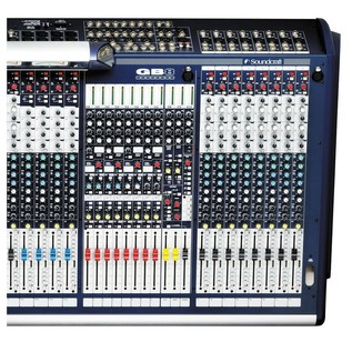 Soundcraft GB8-32 32-Channel Analog Mixer, Top View Right