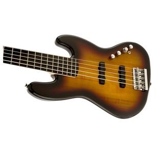 Squier Deluxe Jazz Bass V Active, Sunburst L