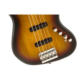 Squier Deluxe Jazz Bass V Active, Sunburst Close
