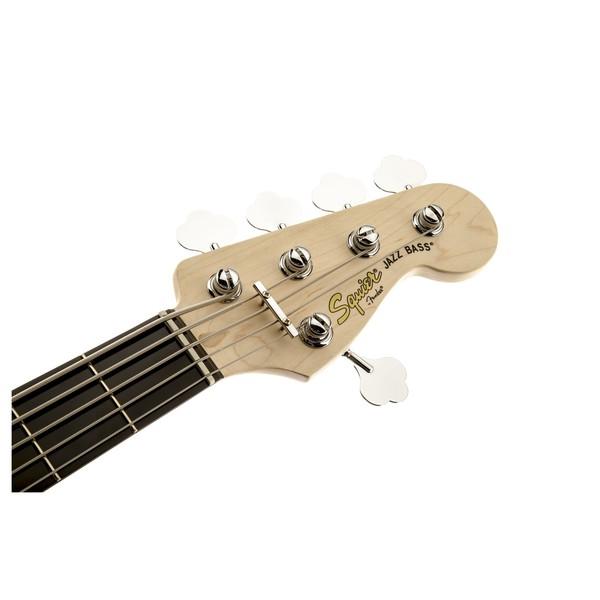 Squier Deluxe Jazz Bass V Active, Sunburst Headstock