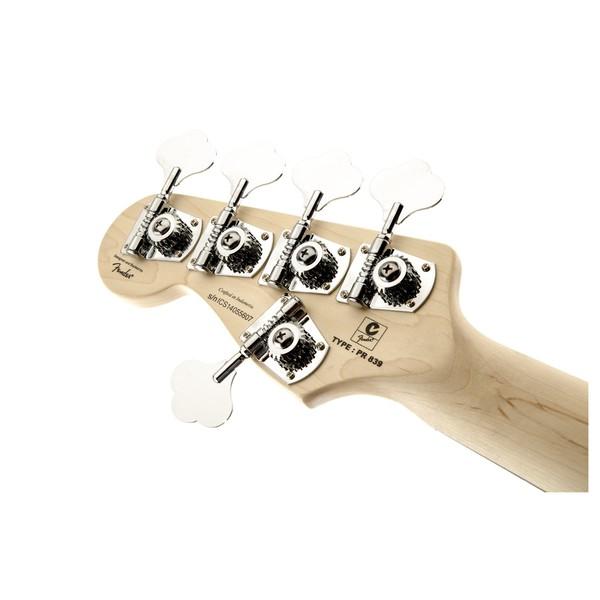 Squier Deluxe Jazz Bass V Active, Sunburst Headstock Back