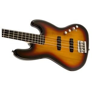 Squier Deluxe Jazz Bass IV Active, Sunburst Left