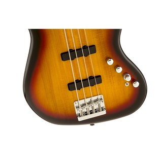 Squier Deluxe Jazz Bass IV Active, Sunburst Close