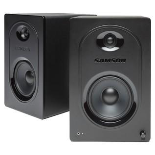MediaOne M50 Powered Studio Monitor (Pair) - Angled