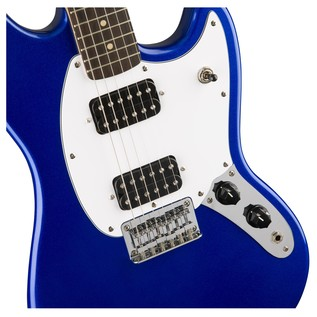 Squier Bullet Mustang HH, Imperial Blue Close
