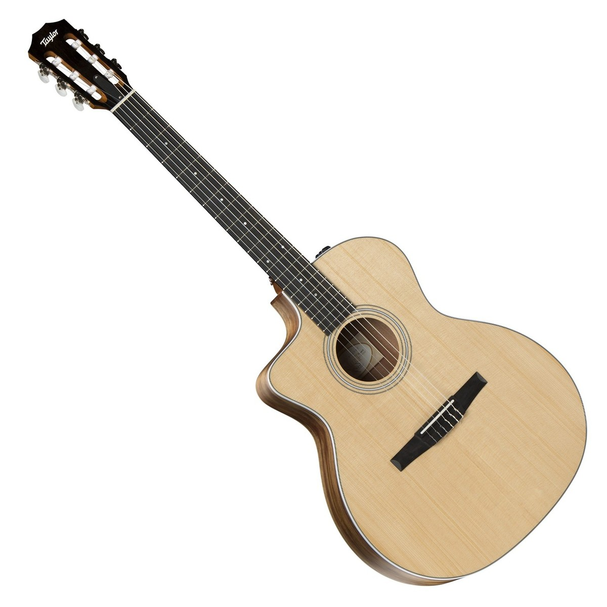 taylor 214ce grand auditorium nylon lh electro acoustic guitar box opened at gear4music. Black Bedroom Furniture Sets. Home Design Ideas