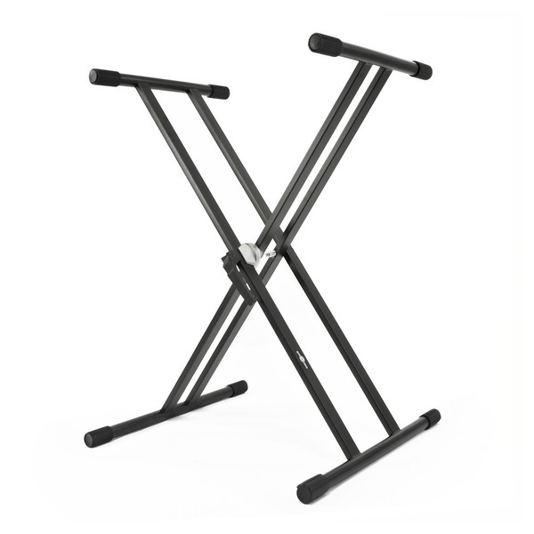 X-Frame Double Braced Keyboard Stand by Gear4music - Front