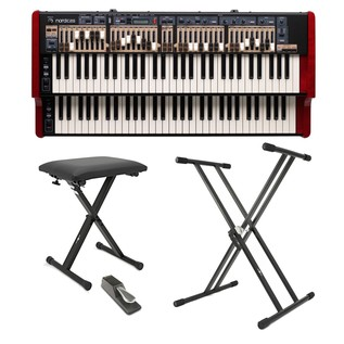 Nord C2D Combo Organ with Drawbars and Free Pedal, Stand and Bench - Main