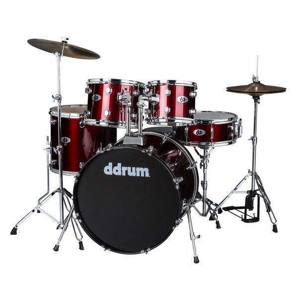 DDrum D2 5pc Drum Kit, Blood Red - Main Image