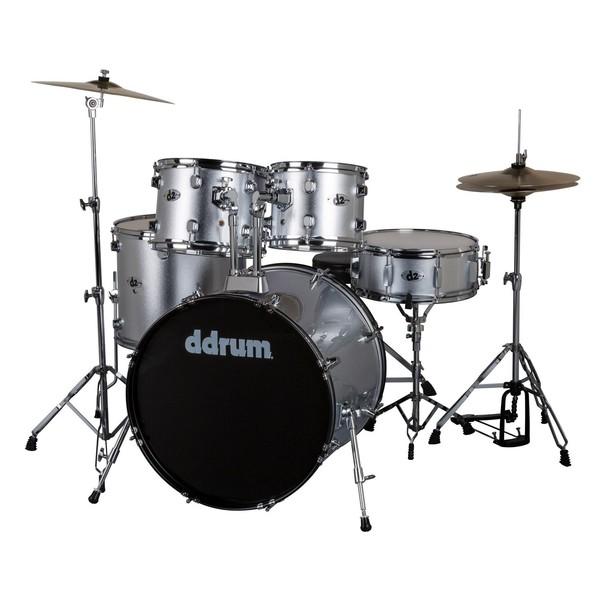 D2 5pc Drum Kit, Brushed Silver - Main Image