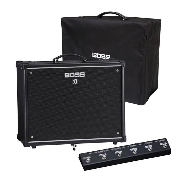 Boss Katana 100 Combo Guitar Amplifier w/ Cover & Footswitch - Main