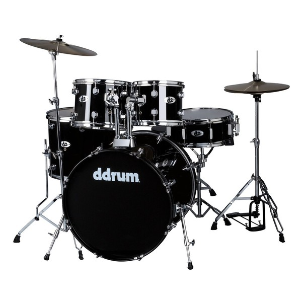 DDrum D2 5pc Drum Kit, Midnight Black - Main Image