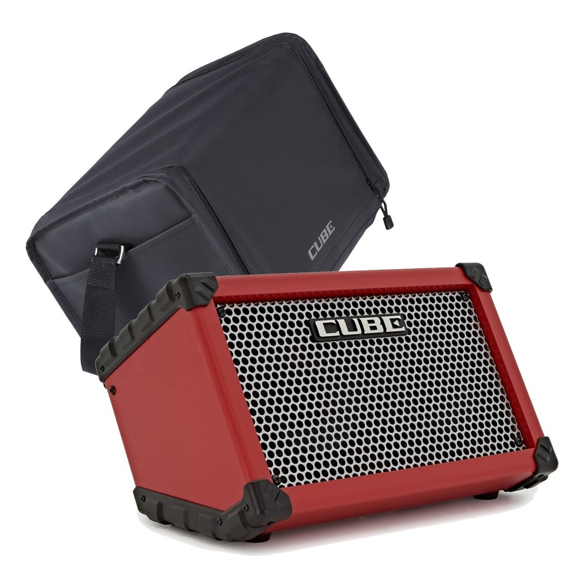 Roland Street Cube, Red w/ Carrying Case