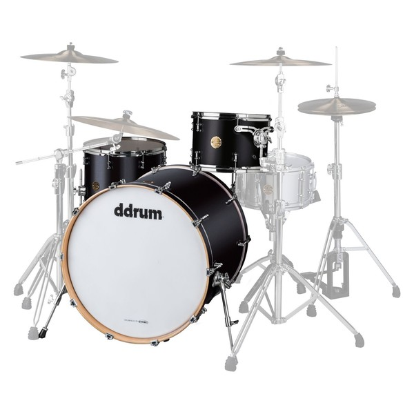 """DDrum Dios Maple 24"""" 3pc Shell Pack, Satin Black - Main Image"""
