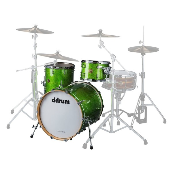 DDrum Dios Maple 20'' 3pc Shell Pack, Emerald Green Sparkle - Main Image