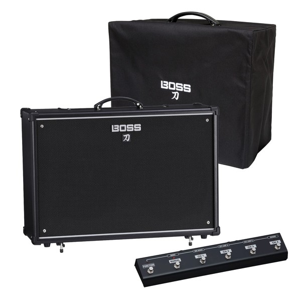 Boss Katana 100 2x12 Guitar Amplifier w/ Cover & Footswitch - Main